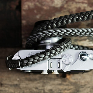 Barton1972 Leather Neck Strap Braided Style - Silver Shade